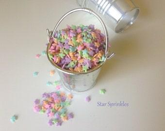 Sprinkles Tiny pastel Sprinkles Jimmies for Cupcakes, Cookies, Cake Decorating (2 oz ) Stars