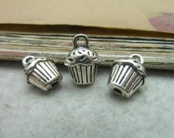 20pcs 10*13mm antique silver  ice cream charms pendant C7354
