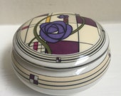 Mackintosh Collection Porcelain Trinket Box