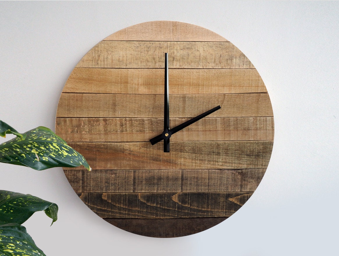 Gradient Rustic Wall Clock Large Wall Clock By StoriaDellOrso