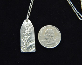 Botanical Imprinted Fine Silver