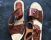 Vintage Kiss Leather Sandals