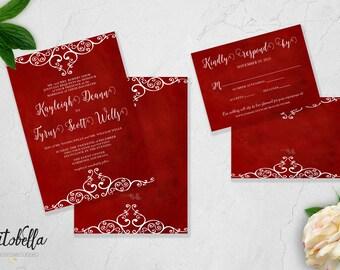Flourish Wedding Invitation Set