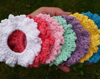 Crochet Ruffled Ponytail Elastic Hair Tie Accessory