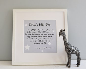 Daddy Print from his little girl or boy