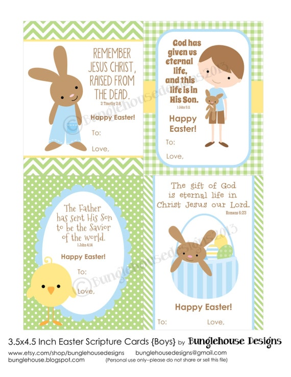 Childrens Easter Cards Printable Christian Easter Card