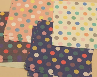 20 Sheets Colorful Dots Origami Square Paper Pack for Origami Paper Project - 14.5cm x 14.5cm