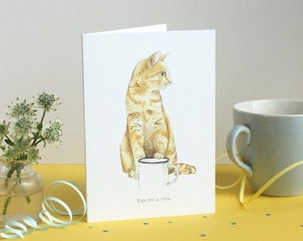 Paw Me a Tea Greetings Card