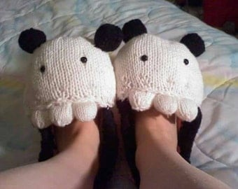 MADE TO ORDER - Custom Animal Slippers - Adult Sizes - Warm Cozy Shoes - Great for Parties and Gifts