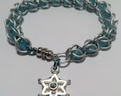 Mei Inspired Frozen Snowflake Captured Chainmaille Bracelet