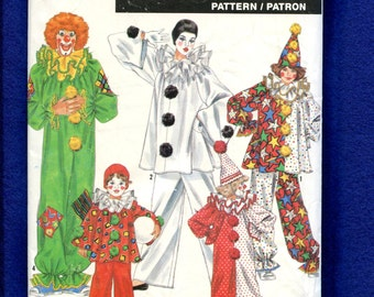 Simplicity 0664 Classic Clowns Costumes for Kids Size 2 to 12  UNCUT