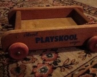 Toy Playskol Wagon Vintage