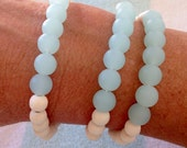 cultured sea glass bracelet , beach bracelet , beachcomber sea glass jewelry , beach jewelry