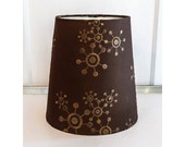 Modern Atomic Style Uno Lamp Shade Tall and Narrow Embroidered Design
