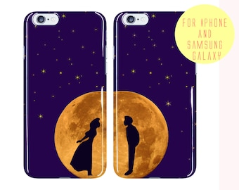 Couples Gift iPhone 7 Plus Case Wedding Gift Samsung Galaxy s7 Case Stars Galaxy s7 Edge Cover Romantic Phone Case Full Moon iPhone 6s Case