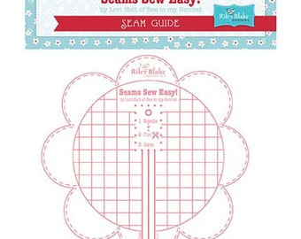 Seams Sew Easy Seam Guide in Pink - Lori Holt of Bee In My Bonnet for Riley Blake Designs - STSEAMGUIDE-PINK