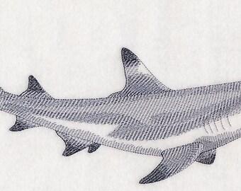 Custom Embroidered Black Tipped Reef Shark Sweatshirt S-3XL