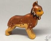 Toy Lynx wood brown   Size: 12,0 x 10,0 x 2,5 cm (bxhxs)  ca. 58,0 gr.