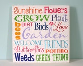 SPRING hand painted sign - typography art - multicolor sign