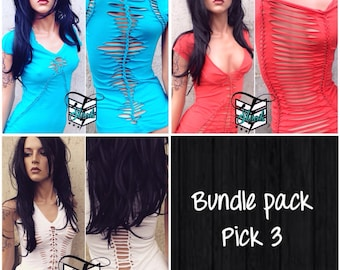 Bundle Pack Pick 3 Styles and 3 Colors