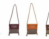 leather cross body bag, handmade cross body bag