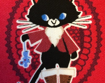 Japanese Puss in Boots November Books fabric
