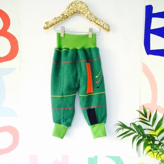 HOP 2-3 Years Kids Wool Cashmere Leggings Longies Double Layer Cloth Diaper Real Nappies Soaker Pants Toddler Trousers Sweat Pants Unisex