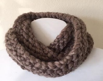 Taupe - grey cowl