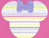 Minnie Mouse applique with bow - iron on DIY