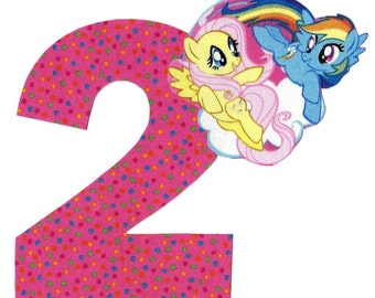 DIY iron on number applique pick any number plus My Little Ponies