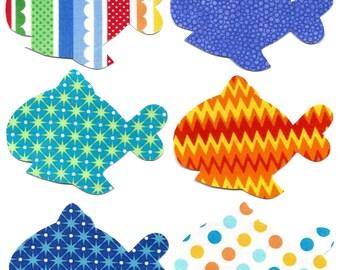 6 Iron on fish appliques DIY