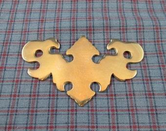 Shiny Brass Escutcheon - Vintage