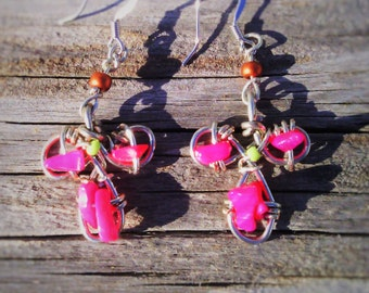 Keltic Pink Earrings
