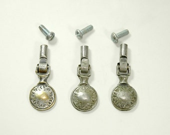 Vintage Pull Handles Drop Style Set of Three