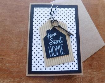 Home Sweet Home - Housewarming Greeting Card - new Home card - new house card - new condo card - new apt card