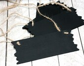 4 Small Hanging Chalkboard Signs / Rustic Style Chalkboard/ Hanging Sign