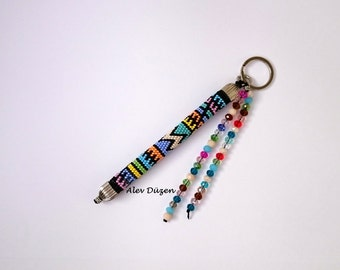 Beaded Key Chain  - Handmade Key Chain - New Design Key Chain - Bead Crochet Key Chain
