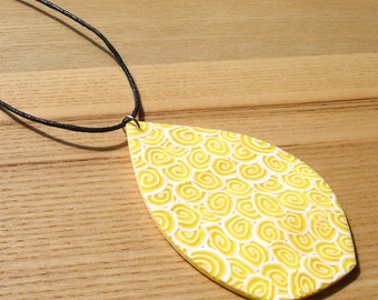 Polymer Clay Jewelry, Assymetric Pendant, Beach Necklace, Scuba, Handmade Necklace, 16th Birthday Gift, Gift for Daughter, FIMO Pendant