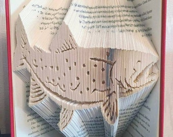 Speckled Trout - 575 pages, 20 cm Book - Book Fold Art - Folded Book - Combi Cut and Fold