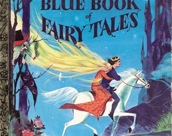 The Blue Book of Fairy Tales Vintage Little Golden Book  Illustrated by Gordon Laite