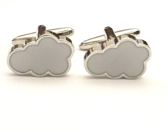 HOLIDAY SPECIAL, Cloud Cufflinks, Sky Cufflinks, Men's Cuff Links, Wedding Cuff Links, Father's Day Cuff Links