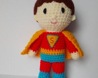 Super hero crochet toy