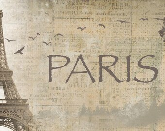 "Paris.Canvas Print by Irena Orlov 40"" x 20"", large canvas art print, wall art print, wall decor, fine art print"