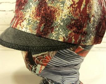 Recycled Mix Denim Newsboy Hat