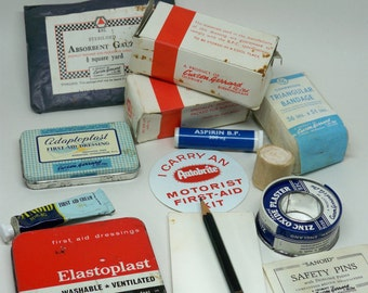 Vintage 1950's - 1960's Autobrite Motorist First Aid Kit - Instant Collection