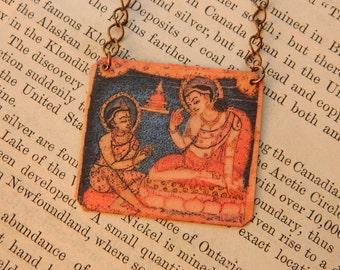 Buddha jewelry Buddha necklace bodhisattva of compassion