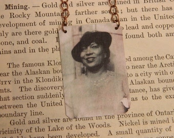 Zora Neale Hurston necklace Literature jewelry mixed media jewelry
