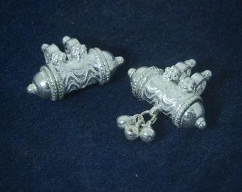 Kavach (Kavacha) Sterling Silver (Filled with Vrindavan Dust Optional), From Vrindavan  SSK002