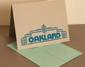 MultiPack - 5 Teal Oakland Fox Theater Marquee Cards