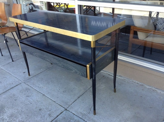 Mid Century Modern Atomic Console Sofa Entry Table Iron Base